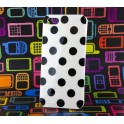 IP5CV007 Custodia Cover Per Iphone 5 Tpu Bianco Pois Neri
