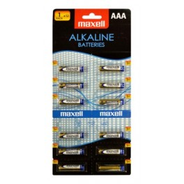 Batterie Ministilo alkaline tipo AAA Maxell Confez.12Pz