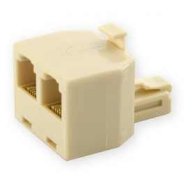 Telephone Splitter Plug 1/2 modular jack 6p/4c