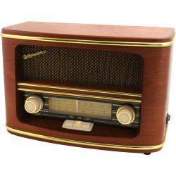 HRA1500N Radio da tavolo in legno AM FM retrò vintage Roadstar HRA-1500N