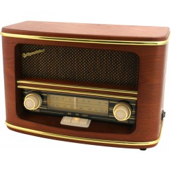 Radio da tavolo in legno AM FM retrò vintage Roadstar HRA-1500N