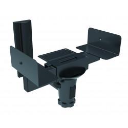 Supporto staffa a parete per diffusore cassa acustica colore nero