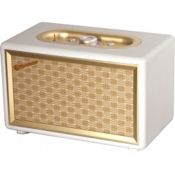 Table Vintage Radio HRA-310BT Bluetooth Roadstar cream color