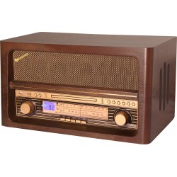 Radio da tavolo con CD e USB player vintage Roadstar HRA-1540UE/BT