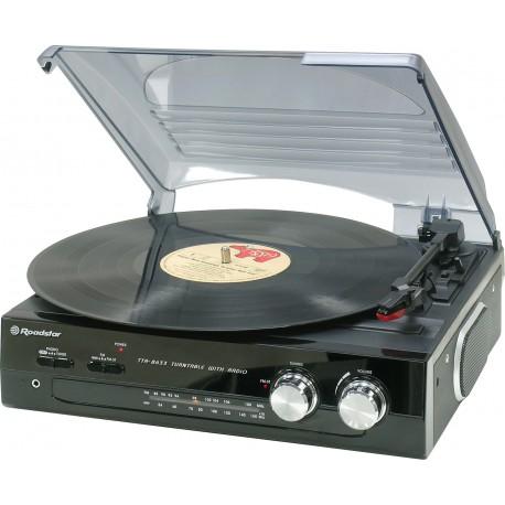 Giradischi stereofonico con radio stereo compatto Roadstar TTR-8633N