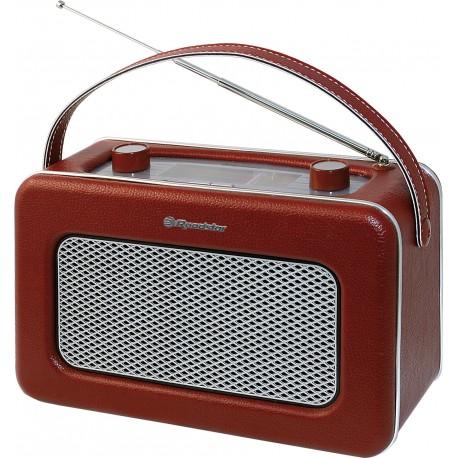 Radio portatile in similpelle rosso bordeaux vintage alta qualità Roadstar presa cuffia TRA1958N