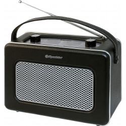 Radio portatile in similpelle nera vintage alta qualità Roadstar presa cuffia TRA1958N