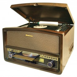 Hi-Fi Radio giradischi vinile cassette recorder usb stereo vintage HIF1937TUMPK