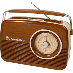 Radio FM Retrò Vintage portatile Roadstar TRA-1957/WD