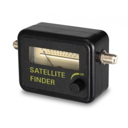 Sat finder, intensity indicator for antenna signals