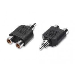 Splitter RCA plug 1 male and 2 female RCA jacks