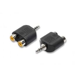 Adattatore monoblocco spina jack 3,5 mm stereo / 2 prese rc