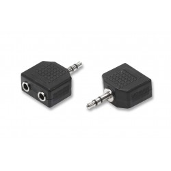 Adattatore switch 1 spina jack 3,5 mm 2 prese jack 3,5 mm