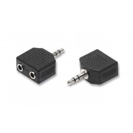 Adattatore switch 1 spina jack 3,5 mm 2 prese jack 3,5 mm