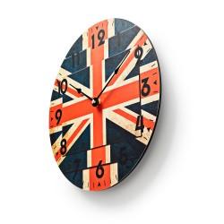 Orologio da parete in legno Regno Unito Union Jack Inghilterra