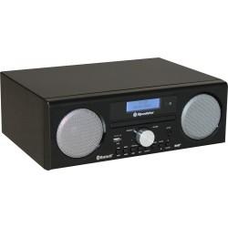 Radio da tavolo DAB + / FM stereo con CD USB REC HRA-9D+BT/BKL
