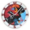 Wall clock in aluminum