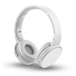Cuffia ad archetto Bluetooth con vivavoce per smartphone pc bianca