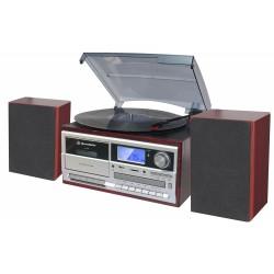 Radio giradischi cassetta REC MP3 USB CD Bluetooth HIF-8892EBT