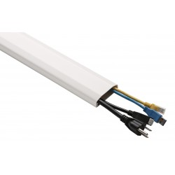 Canalina per cavi in plastica colore bianco 75 cm