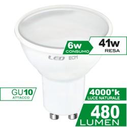 Faretto Led Gu10 6 W Luce Calda 3000 K