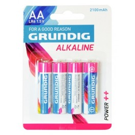 4 AA alkaline batteries Batteries 2100 mAh Grundig