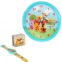 38284 Kit 3 orologio da parete da polso sveglia ToyStory Cars Winnie the Pooh